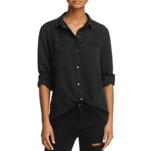 Rails | Black Beau Studded Snap Down Shirt